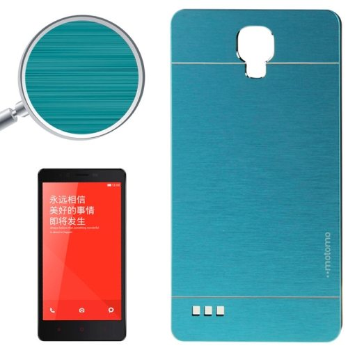 Brushed Texture Metal & Plastic Protective Case for Xiaomi Redmi Note(Blue)
