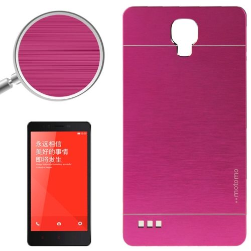Brushed Texture Metal & Plastic Protective Case for Xiaomi Redmi Note(Magenta)
