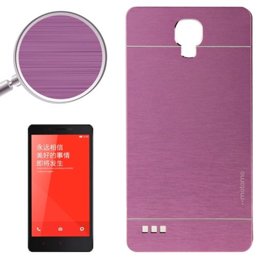 Brushed Texture Metal & Plastic Protective Case for Xiaomi Redmi Note(Purple)
