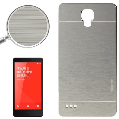 Brushed Texture Metal & Plastic Protective Case for Xiaomi Redmi Note(Sliver)