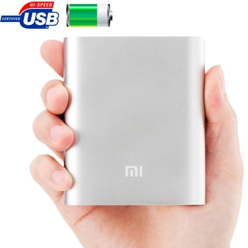 Xiaomi 10400mAh High Capacity Portable Rechargeable USB External Battery Power Bank (Silver)