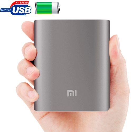Xiaomi 10400mAh High Capacity Portable Rechargeable USB External Battery Power Bank (Grey)