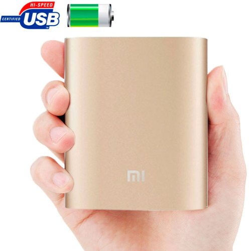 Xiaomi 10400mAh High Capacity Portable Rechargeable USB External Battery Power Bank (Gold)