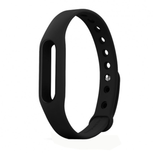 TPSIV Silicone Colorful Replacement Wristbands Bracelet for Xiaomi Smart Wristband (Black)