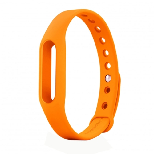 TPSIV Silicone Colorful Replacement Wristbands Bracelet for Xiaomi Smart Wristband (Orange)