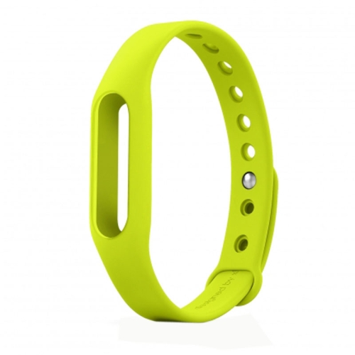 TPSIV Silicone Colorful Replacement Wristbands Bracelet for Xiaomi Smart Wristband (Green)