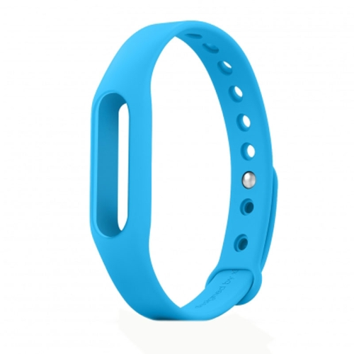 TPSIV Silicone Colorful Replacement Wristbands Bracelet for Xiaomi Smart Wristband (Blue)