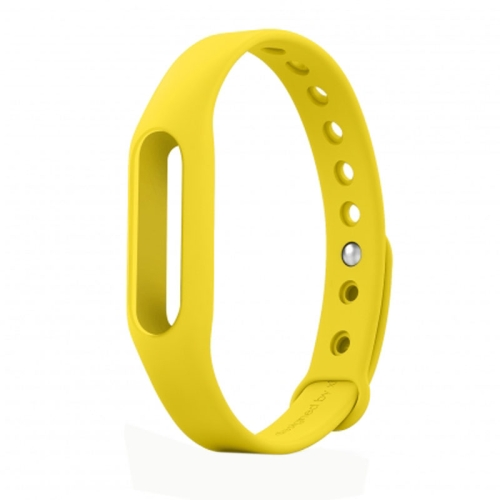 TPSIV Silicone Colorful Replacement Wristbands Bracelet for Xiaomi Smart Wristband (Yellow)