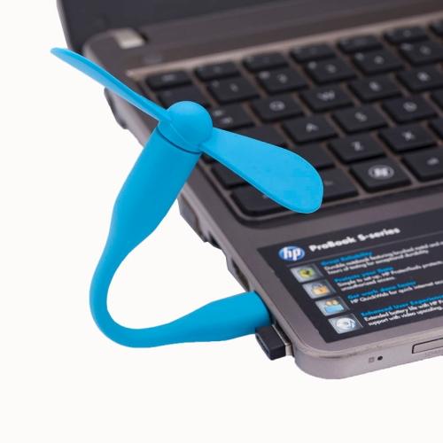 Xiaomi Flexible Mini Portable USB Powered 2-Blade USB Fan (Blue)