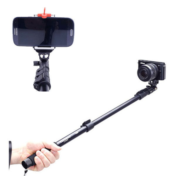 YUNTENG 188, 2 in 1 Kit Selfie Monopod + Phone Holder Clip for iPhone 6 & 6 Plus / iPhone 5 & 5S & 5C, Max Length: 1.23m