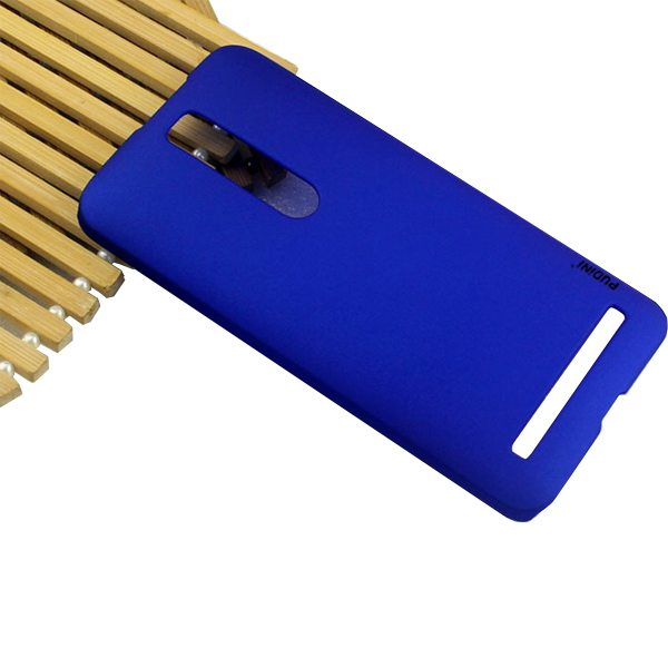PUDINI Pin Series Oil Coated PC Hard Case for Asus ZenFone 2 (Blue)