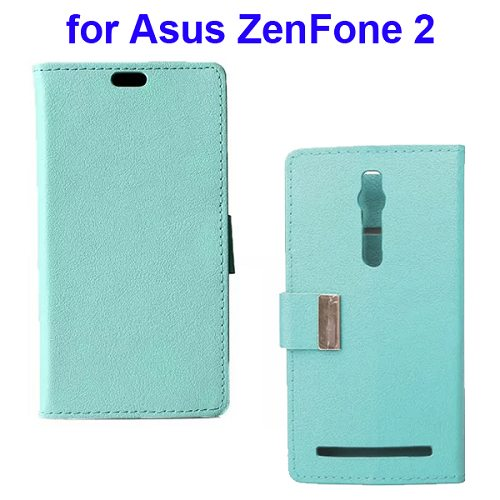 Karst Texture Wallet Style Flip Leather Case for Asus ZenFone 2 (Light Blue)