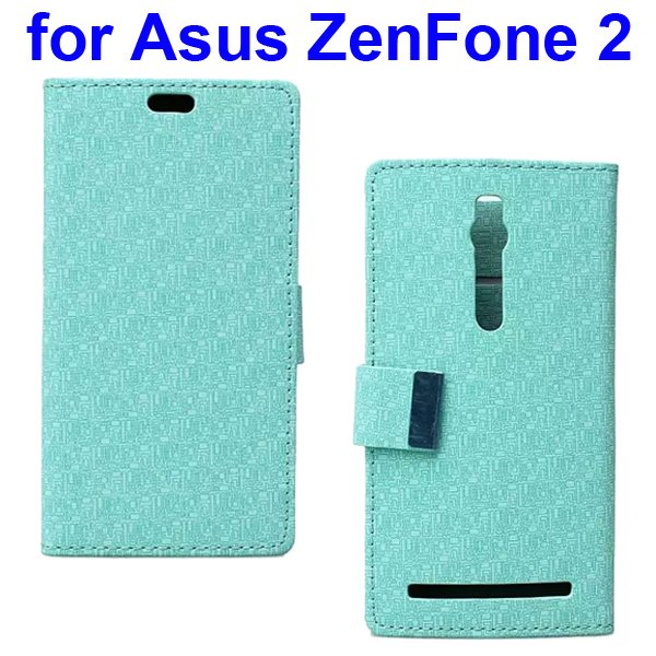 Maze Pattern PU Wallet Leather Flip Cover for Asus ZenFone 2 (Green)