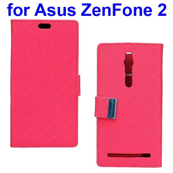 Maze Pattern PU Wallet Leather Flip Cover for Asus ZenFone 2 (Red)