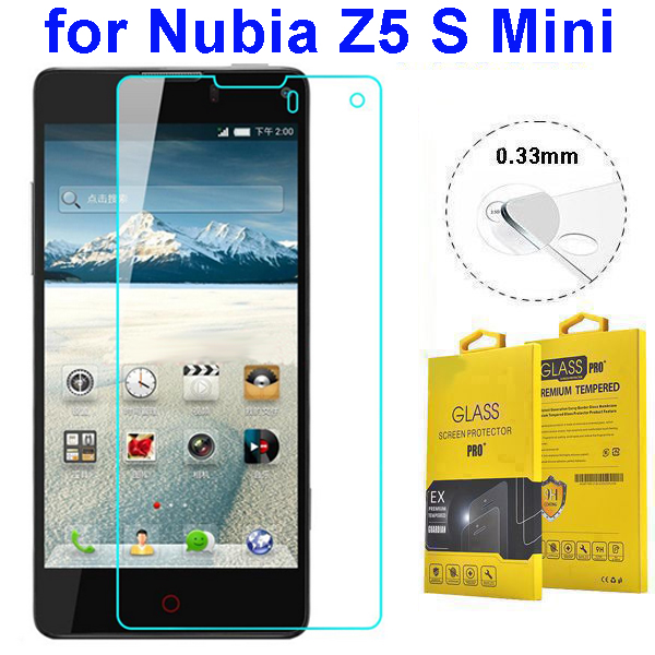 0.33mm 2.5D Curved Tempered Glass Screen Protector for Nubia Z5 S Mini