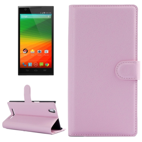 Horizontal Flip Solid color Leather Case for Lenovo Vibe Z2 with Card Slots & Holder (Pink)