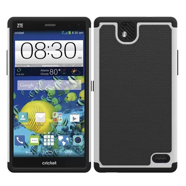 Football Print Hybrid Rugged Protective Case for ZTE Gand XMax (White)