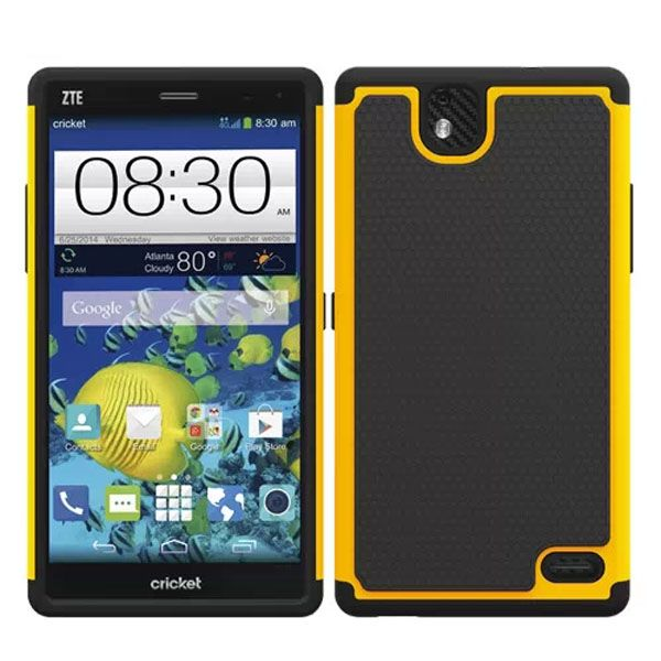 Football Print Hybrid Rugged Protective Case for ZTE Gand XMax (Yellow)
