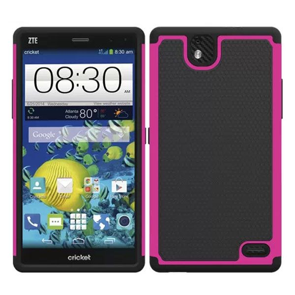 Football Print Hybrid Rugged Protective Case for ZTE Gand XMax (Rose)
