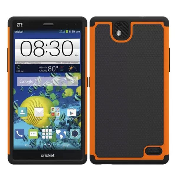 Football Print Hybrid Rugged Protective Case for ZTE Gand XMax (Orange)