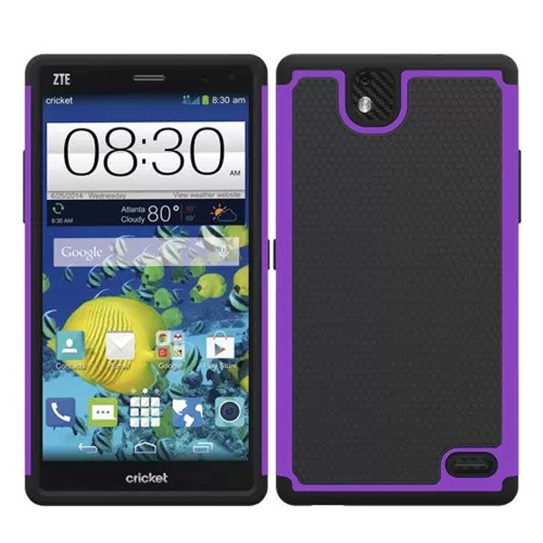Football Print Hybrid Rugged Protective Case for ZTE Gand XMax (Purple)