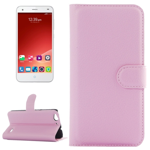 Litchi Texture Wallet Leather Case for ZTE Blade S6 with Card Slots & Holder & Wallet (Pink)