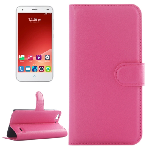 Litchi Texture Wallet Leather Case for ZTE Blade S6 with Card Slots & Holder & Wallet (Rose)