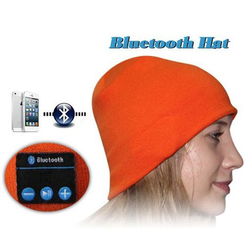 Bluetooth Headset Warm Winter Hat for iPhone 6 & iPhone 6 Plus / iPhone 5S / iPhone 4 & 4S and Other Bluetooth Devices (Orange)