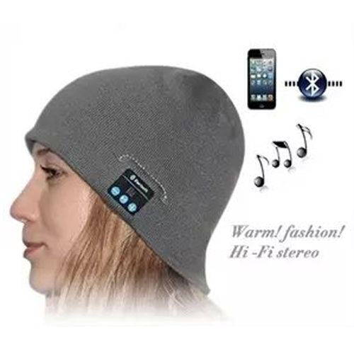 Bluetooth Headset Warm Winter Hat for iPhone 6 & iPhone 6 Plus / iPhone 5S / iPhone 4 & 4S and Other Bluetooth Devices (Grey)