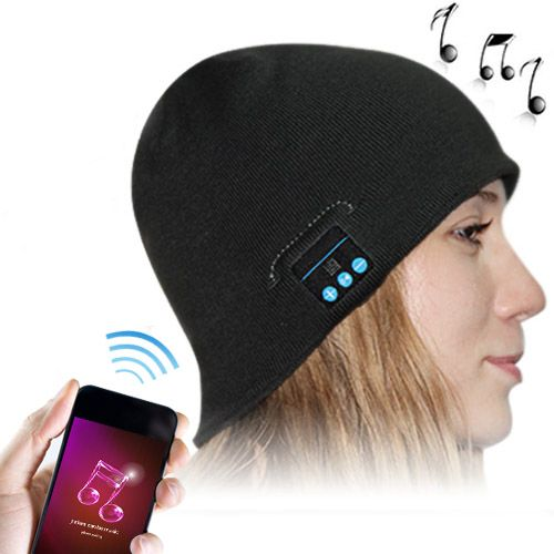 Bluetooth Headset Warm Winter Hat for iPhone 6 & iPhone 6 Plus / iPhone 5S / iPhone 4 & 4S and Other Bluetooth Devices (Black)