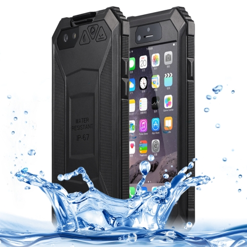 BOLISH IP67 Waterproof  Protective Case for iPhone 6 with Tempered Glass Film and Car Holder (Black)