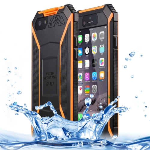 BOLISH IP67 Waterproof  Protective Case for iPhone 6 with Tempered Glass Film and Car Holder (Orage)