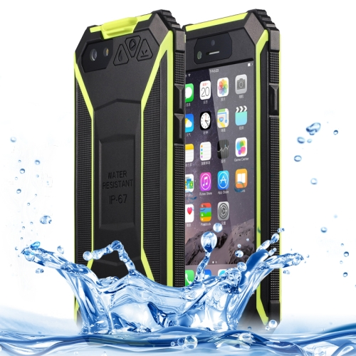 BOLISH IP67 Waterproof  Protective Case for iPhone 6 with Tempered Glass Film and Car Holder (Green)