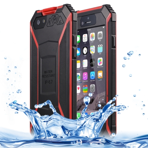 BOLISH IP67 Waterproof  Protective Case for iPhone 6 with Tempered Glass Film and Car Holder (Red)