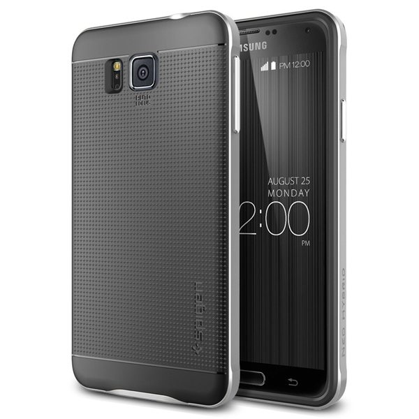Hybrid Bumper Style Premium Case Slim Fit Dual Layer Protective Cover for Samsung Galaxy Alpha (Silver)