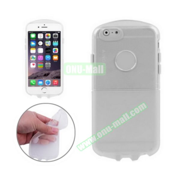 Pill Design Transparent Frosted TPU Case for iPhone 6 4.7 inch (White)