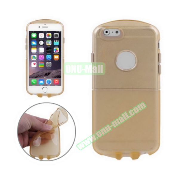 Pill Design Transparent Frosted TPU Case for iPhone 6 4.7 inch (Gold)
