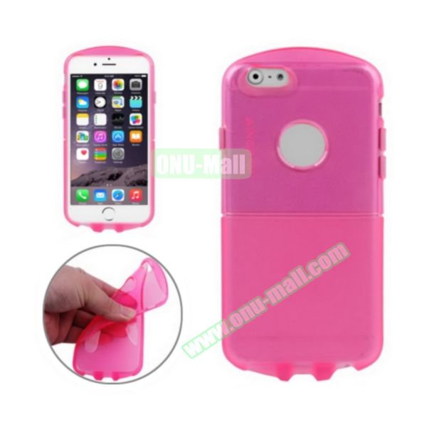 Pill Design Transparent Frosted TPU Case for iPhone 6 4.7 inch (Rose)