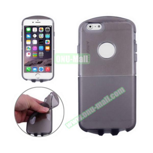 Pill Design Transparent Frosted TPU Case for iPhone 6 4.7 inch (Black)