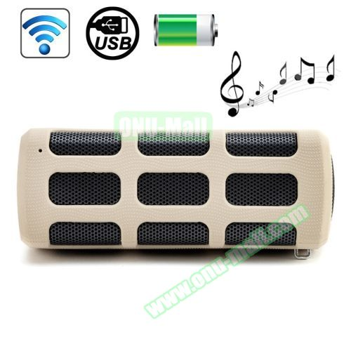 High-end Outdoor DITTER S33 Shockproof Portable Mini Bluetooth Speaker with Buckle (White)