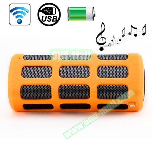 High-end Outdoor DITTER S33 Shockproof Portable Mini Bluetooth Speaker with Buckle (Orange)