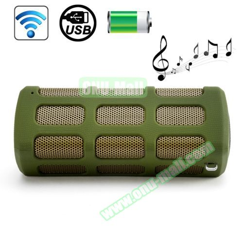 High-end Outdoor DITTER S33 Shockproof Portable Mini Bluetooth Speaker with Buckle (Green)