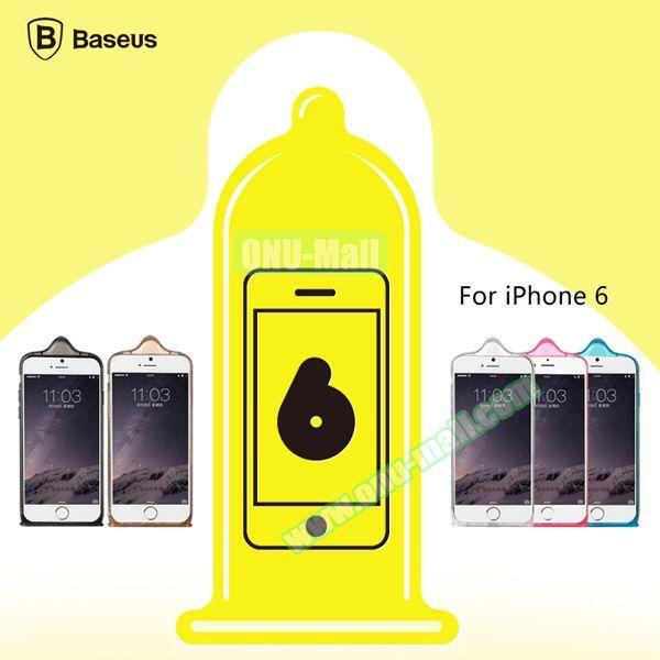 Baseus Icondom Series Ultra-thin Translucent Flexible TPU Case for iPhone 6 Plus 5.5 (Black)