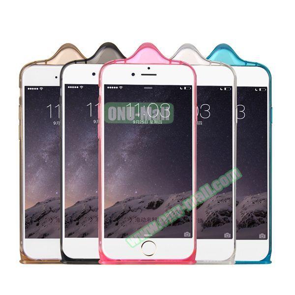 Baseus Icondom Series Ultra-thin Translucent Flexible TPU Case for iPhone 6 Plus 5.5 (Blue)