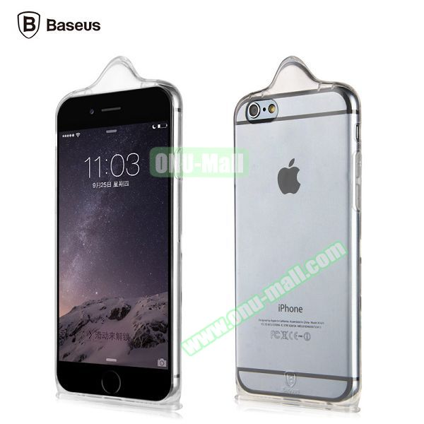 Baseus Icondom Series Ultra-thin Translucent Flexible TPU Case for iPhone 6 Plus 5.5 (Transparent)