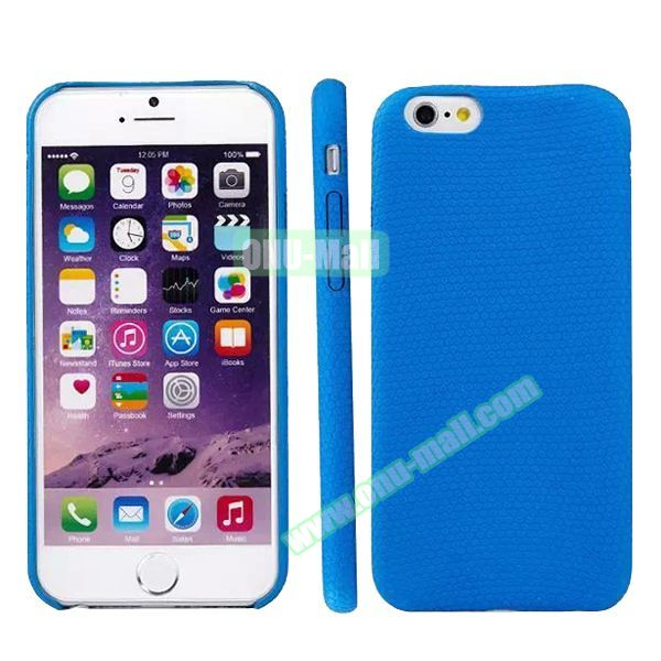 Football Texture Soft TPU Case for iPhone 6 4.7 (Blue)