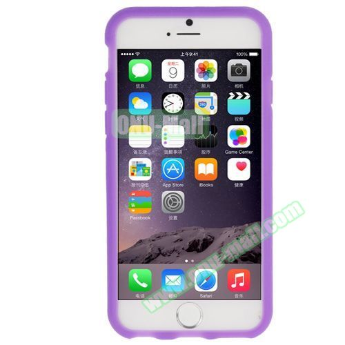 Newest 3D Flower Pattern Silicone Case for iPhone 6 (Purple)