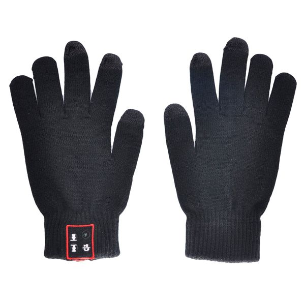 Handsfree call Talking & Touch Screen Knit Braided Gloves With Conductive Fingertips For Smartphone (Black)