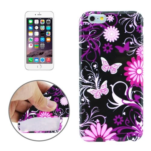 3D Printing Colorful Design Soft TPU Case for iPhone 6 4.7 (Heart-shaped Flowers)