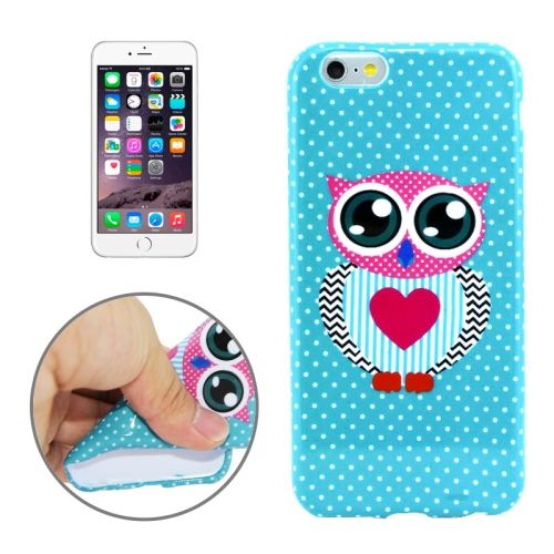 3D Printing Colorful Design Soft TPU Case for iPhone 6 4.7 (Love Owl)
